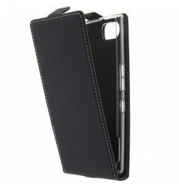 TPU Flipcase Blackberry Keyone - Zwart