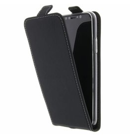 TPU Flipcase iPhone X - Black