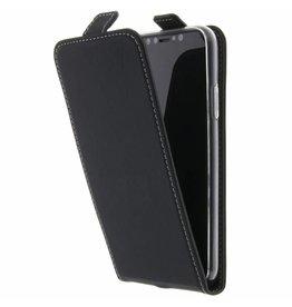 TPU Flipcase iPhone X - Zwart