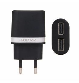 Dual Port Wall Charger 2.4A - Black
