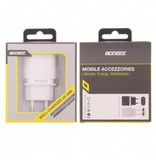 Dual Port Wall Charger 2.4A - White