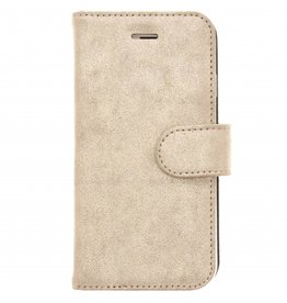 Glitter Wallet TPU Booklet iPhone 6 / 6s - Goud