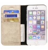 Glitter Wallet TPU Booklet iPhone 6 / 6s - Gold