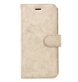 Glitter Wallet TPU Booklet iPhone 8 Plus / 7 Plus - Goud