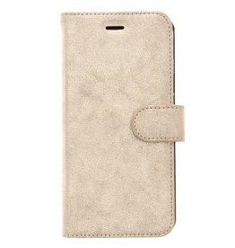 Glitter Wallet TPU Booklet iPhone 8 Plus / 7 Plus - Goud