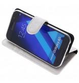 Glitter Wallet TPU Booklet Samsung Galaxy A5 (2017) - Silver