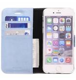 Glitter Wallet TPU Booklet iPhone 6 / 6s - Blauw