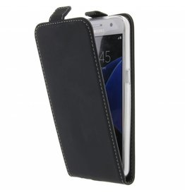 TPU Flipcase Samsung Galaxy S7 - Zwart