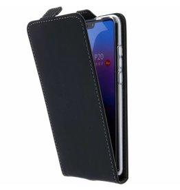 TPU Flipcase Huawei P20 - Zwart