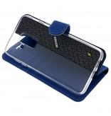 Wallet TPU Booklet Samsung Galaxy A6 (2018) - Blauw