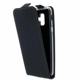 TPU Flipcase Samsung Galaxy A6 Plus (2018) - Zwart