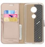Wallet TPU Booklet Motorola Moto E5 Plus - Goud