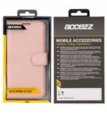 Wallet TPU Booklet iPhone Xs Max - Rose Gold