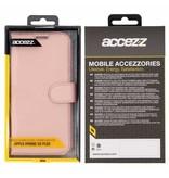 Wallet TPU Booklet iPhone Xs Max - Rosé Goud