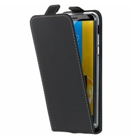 TPU Flipcase Samsung Galaxy J6 - Zwart