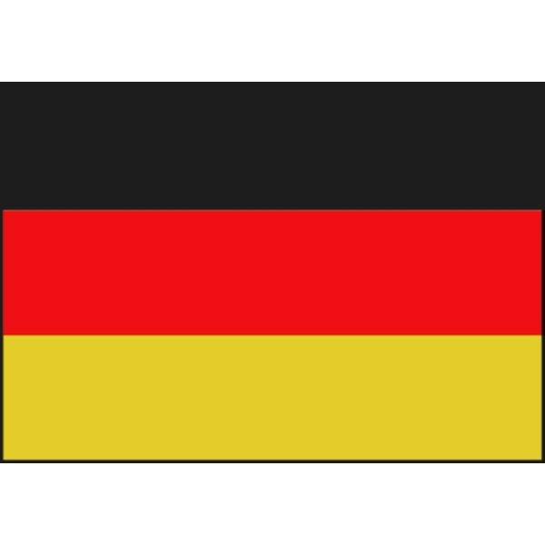 Boot vlag Duitsland 20 x 30 cm