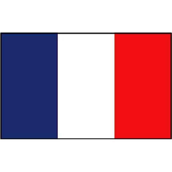 Boot vlag Frankrijk 20 x 30 cm