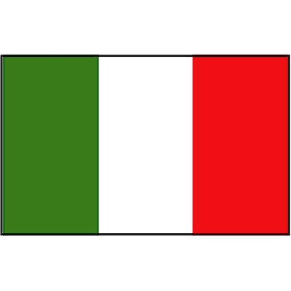 Boot vlag Italië 20 x 30 cm
