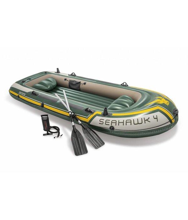 Intex Opblaasboot Seahawk 4 Set vierpersoons