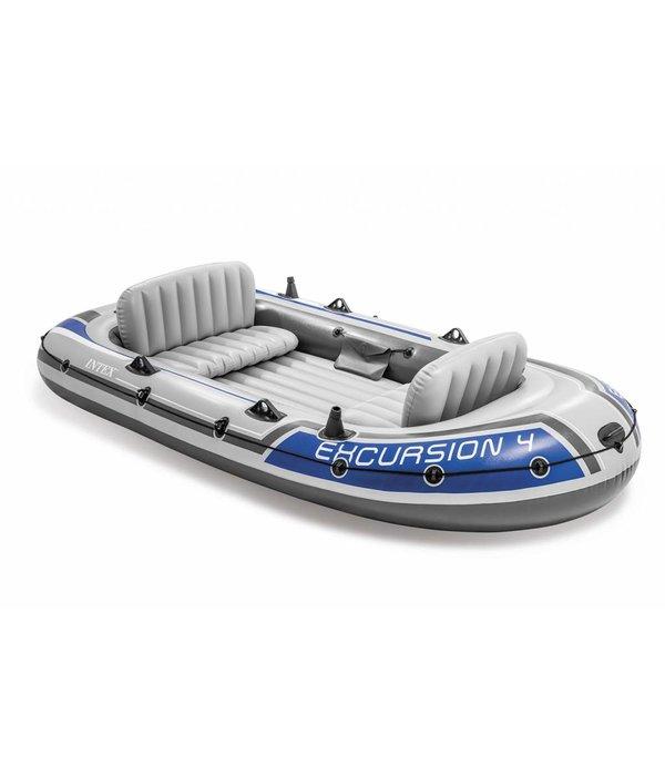 Intex Opblaasboot Excursion 4 Set vierpersoons