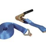 Talamex Spanband 50 mm 8 meter met ratelgesp en J-haak