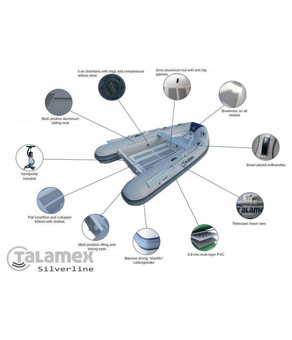Talamex Silverline 270 RIB boot met aluminium bodem