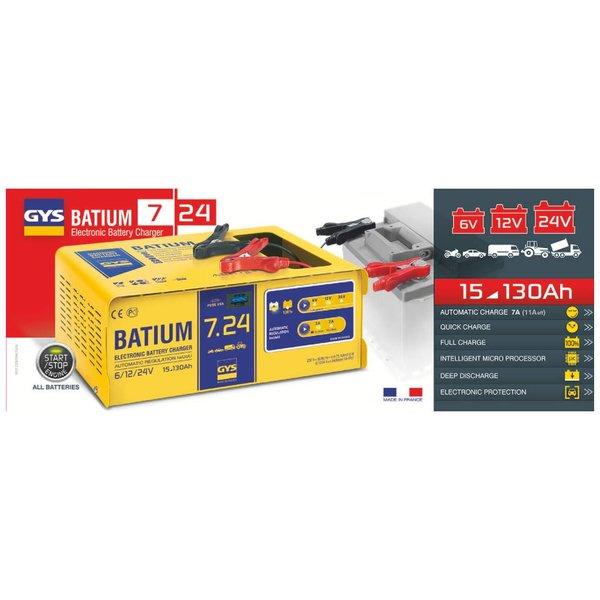 Batium 7/24 acculader 6-12-24 volt