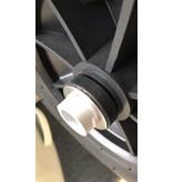 Talamex Set transportwielen Aluminium / RVS set hek/spiegel bevestiging