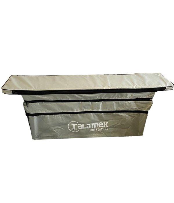 Talamex Zitbanktas met kussen grijs