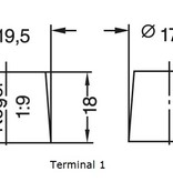 Dynac Start accu 12 volt 55 ah Type 55559L