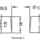 Dynac Semi-tractie accu 12 volt 60 ah Type 95502 SMF