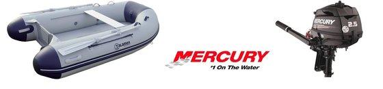 Boot + Mercury benzinemotor
