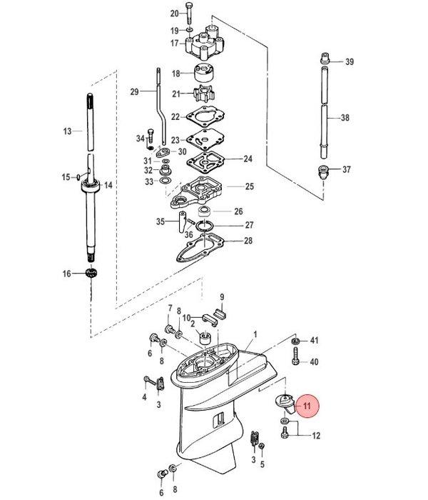 Quicksilver Trim anode voor 8 en 9,9 pk buitenboordmotor