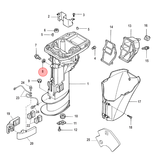 Mercury Motorolie afdichtingsring voor 8 en 9,9 pk buitenboordmotor