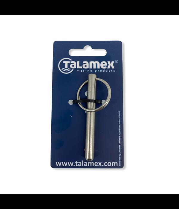 Talamex RVS borgpen met kogel en ring voor transportwielen