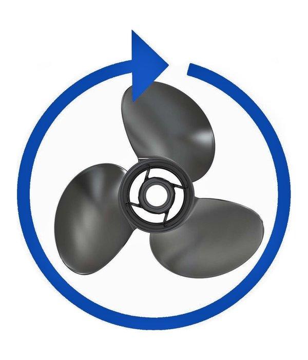 """Mercury Black Max aluminium 7,8"""" x  7'' propeller"""