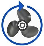 """Mercury Black Max aluminium 8,9"""" x 7,5"""" propeller"""