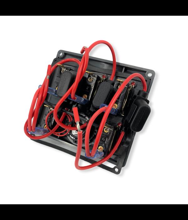 Talamex Schakelpaneel 12/24V met 5 schakelaars en voltmeter
