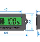 Capaciteit meter 12 - 24 volt accu