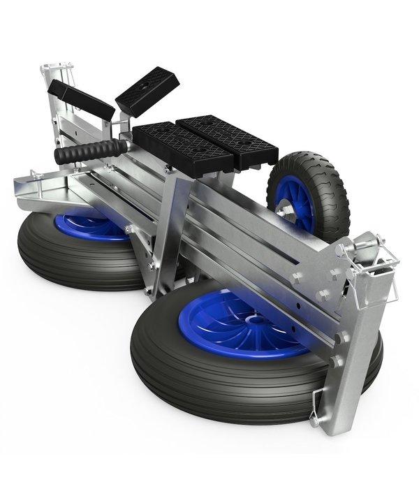 Opvouwbare handtrailer voor rubberboten