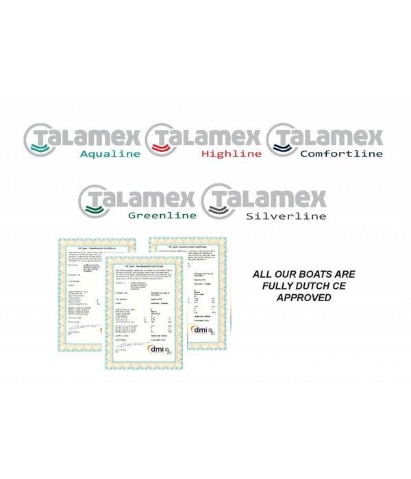 Talamex Highline airdeck HLA 230 storm-grijs rubberboot