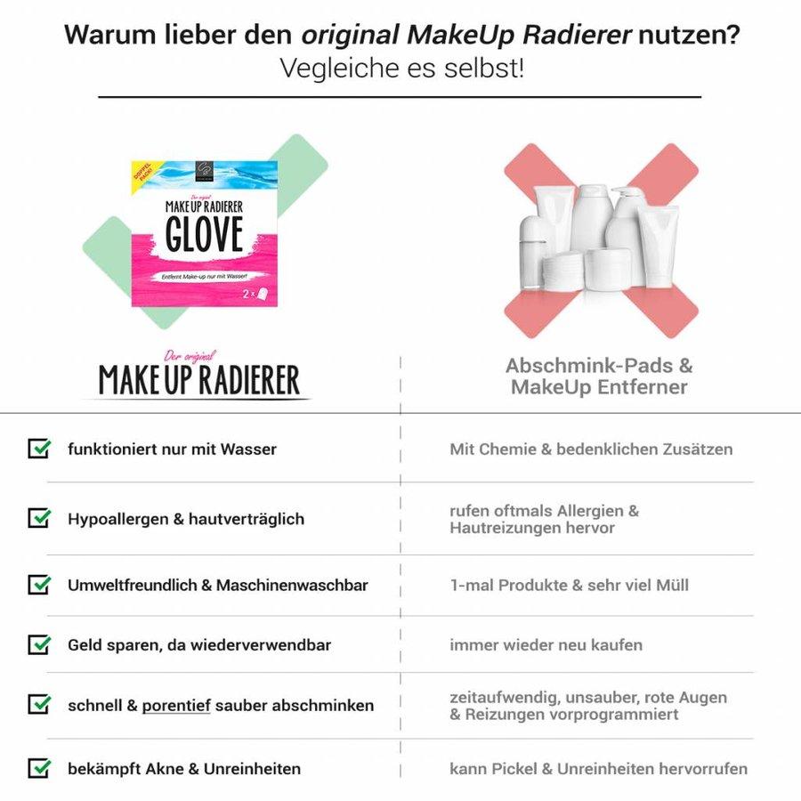 MakeUp Radierer GLOVE   2-er Set (Pink)