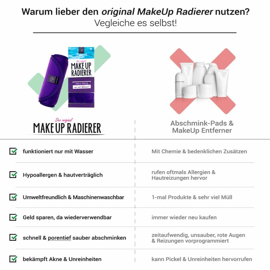 Limango-Deal: 4er-Set MakeUp Radierer (Lila)