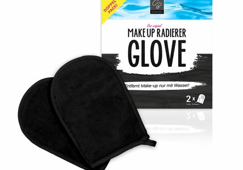 Celina Blush MakeUp Radierer GLOVE | 2-er Set (Schwarz)