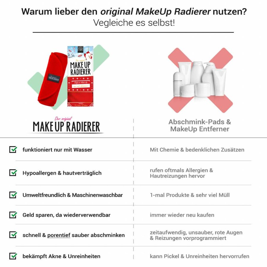 Limango-Deal: 2er-Set MakeUp Radierer (Rot)