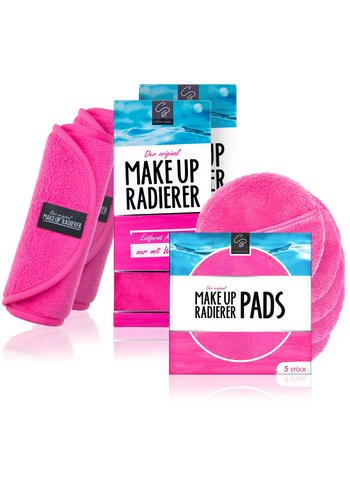 Celina Blush Kombi-Deal: 2 MakeUp Radierer + 5er Set PADs (Pink)