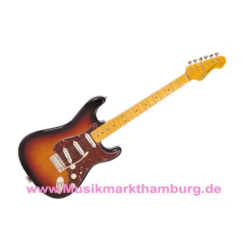 Vintage Gitarre Vintage V6MSSB Strat 3-tone sunburst