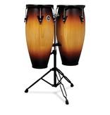 "Latin Percussion Latin Percussion City Wood Conga Set 10"" & 11 "" Inkl. Stand"