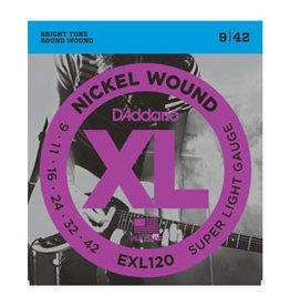 D'addario Daddario EXL120 09-42 Nickel Wound Super Light