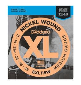 D'addario D'addario EXL115W 11-49 Nickel Wound Medium